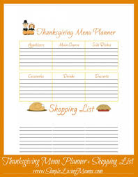 thanksgiving dinner list templates happy thanksgiving