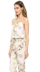 hippie jumpsuit haute hippie drawstring floral jumpsuit shopbop