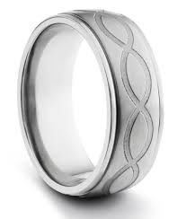 titanium men 8mm titanium mens brushed wedding band ring w engraved infinity