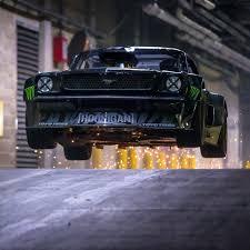 hoonigan mustang twin turbo rally driver ken block takes matt leblanc on a high speed drift