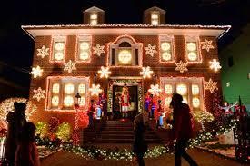 dyker heights brooklyn christmas lights families enjoy the dyker heights christmas lights display on