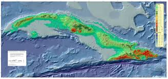 Map Cuba Topographic Map Of Cuba 3500 1643 Mapporn