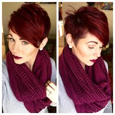 pixie cut and red violet hair hairstyles inspiration pinterest