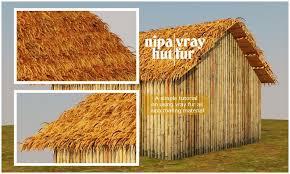 Tiki Hut Material Nipa Thatch Roofing Using Vray Fur