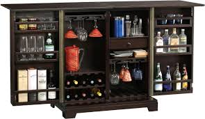 Darby Home Furniture Barolo Console Wine U0026 Bar Cabinet With Mirrored Door Panels By