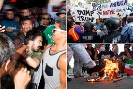Flag Burning Protest San Jose Illegal Mexican Trump Protesters Burning Flag