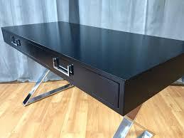 Computer Desk In Black Milo Baughman X Base Campaign Desk In Black Lacquer For Thayer