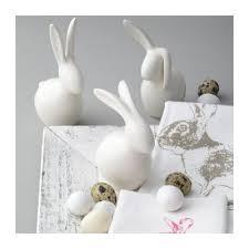 leonardo white rabbit ornament white bunny figurine
