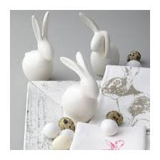 leonardo speedy white rabbit ornament 23cm large white bunny