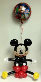 Mickey Mouse Center Pieces Kids Birthday Party Balloon Decorations