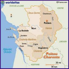 map of poitiers map of the poitou charente region of including poitiers la