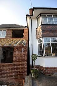 couple u0027s fury as 4ft gap between houses is completely swallowed by