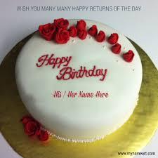 name write on birthday cake pics wishes greeting card