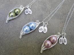 3 peas in a pod jewelry s sweet peas in a pod necklace 2 3 or 4 peas