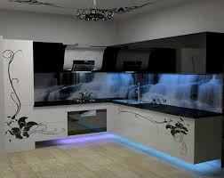 Funky Kitchen Lighting by Amazing Kitchen Design With Cool Cold Blue Neon Lights Matching