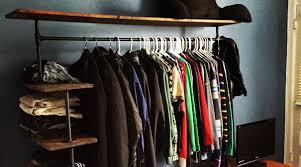 Shelf With Clothes Rod Diy Pipe Shelf Clothes Rack U2013 Andrew Brooks