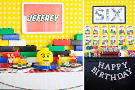 Candy Themed Party Decorations Part 1 Jeffrey U0027s Modern Lego Inspired Party The Dessert U0026 Lego