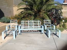 Tropitone Patio Chairs Vintage Tropitone Patio Furniture Set Metal U0026 Strap Glider Retro