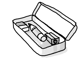 Pencil Box Coloring Page And Paste In The Pencil Box Color The Box Coloring Pages