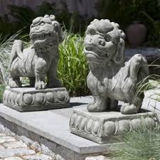 foo statues frontgate decor garden foo