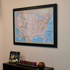 Framed Maps Of The United States by Classic Us Travel Map Push Pin Travel Maps