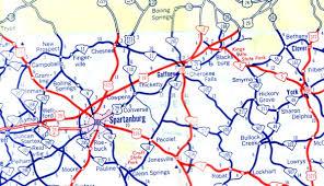 sc highway map south carolina s us highways