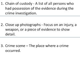 forensic science vocab unit 2