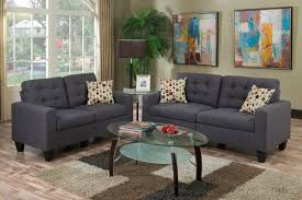 Blue Sofa Set F6901 Cat 17 P31 2pc Sofa Set Blue Grey