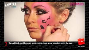 halloween leopard makeup tutorial leopard face painting make up tutorial youtube