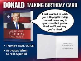 donald trump birthday card our friendly forest