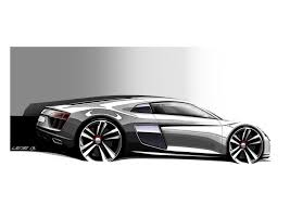 Audi R8 2016 - 2016 audi r8 design sketches are something to geek over