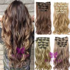 best clip in hair extensions 7pcs set clip in hair extension 22inch curly wavy hair