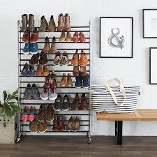 amazon com amazonbasics 50 pair shoe rack home u0026 kitchen
