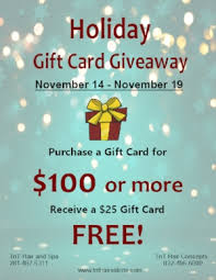 gift card specials specials t nt hair salons