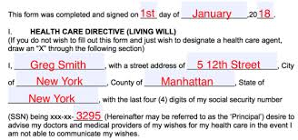 free living will forms advance directives medical poa pdf