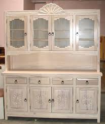 Pickled Cabinet Finish Spanish Colonial Hutches