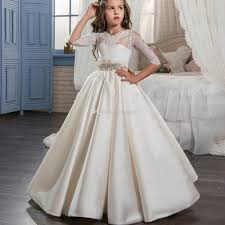 graduation dresses for kids holy communion pageant dress for with sleeves
