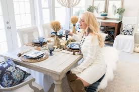 casual blue and white thanksgiving table home stories a to z