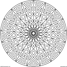 cool geometric designs coloring page coloring page for kids kids