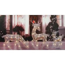 Rattan Reindeer Christmas Decorations by Outdoor Christmas Decorations You U0027ll Love Wayfair