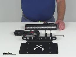 Vision X Light Bar Vision X Lights Licenseplpx910 Review Video Etrailer Com