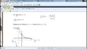 graphing rational functions using calculus youtube