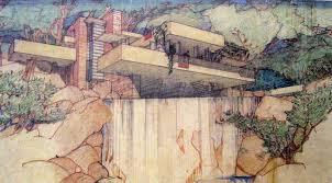 Frank Lloyd Wright Waterfall by Courtesy Of Frank Lloyd Wright U2013 All Things Art U2013 Medium