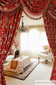 Red Curtains Living Room Celuce Turandot Swag Valances Curtain Drapes Indulge Yourself