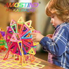 amazon com amosting magnetic building blocks present package toy