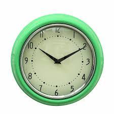 Wall Clocks by Amazon Com Creative Co Op Urban Homestead Round Metal Wall Clock