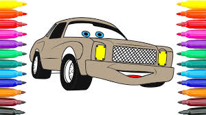 how to coloring cars 2 darrell cartrip coloring pages how to paint