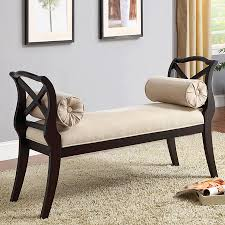 accent bench living room shop furniture of america philipsberg traditional espresso accent