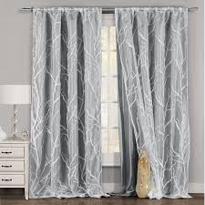 Double Panel Shower Curtains One Piece 1 Gray And White Window Curtain Panel Tree Branch