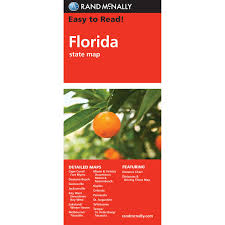 Map Melbourne Fl Rand Mcnally Easy To Read State Folded Map Florida